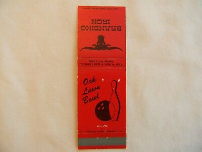 Oak Lawn Illinois Cook County bowling food & beverage low # matchcover matchbook