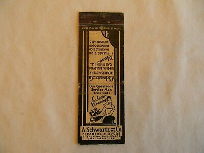 Oak Park Illinois cleaners dyers low # matchcover matchbook