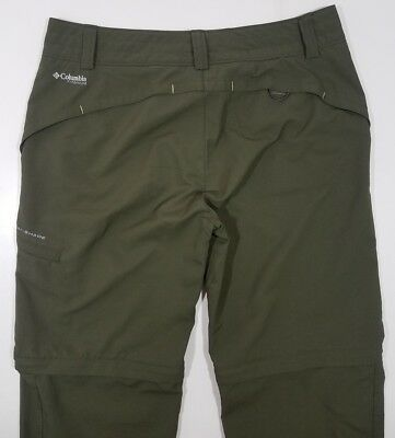 Columbia Women's Titanium Omni-Shade Olive Green Pants Size 6 Convertible