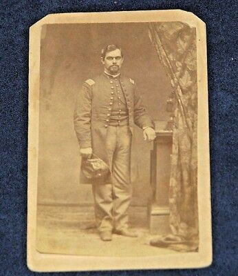 Original Civil War CDV Photo Union Officer Made by WG Smith Cooperstown NY