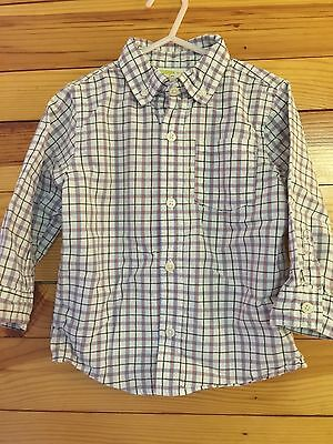 *CRAZY 8* Boys SPRING Plaid Button Front Shirt Size 2 yrs