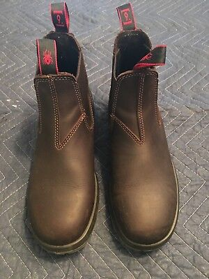 Redback Work Boots UNPU Great Barrier Water Resistant Nevada Puma Brown