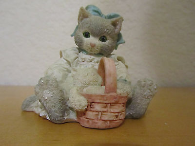 B146 Calico Kittens Figurine Hats Off to a Perfect Friendship Hillman 1994 Cat