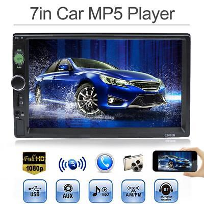 """7"""" TFT Touch Screen 1080P 2Din Car Stereo Bluetooth MP5 Player FM Radio AUX USB"""