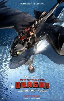 """How to Train Your Dragon 3 The Hidden World Movie Poster Art 13x20 24x36"""" 27x40"""""""