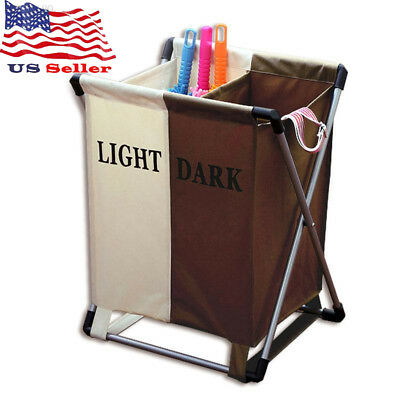 Oxford Cloth Dirty Clothes Classified Storage Laundry Foldable Hampers Basket