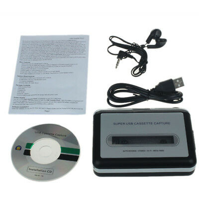 Tape to Audio Editing MP3 Format Converter to USB Flash Drive Portable Cassette