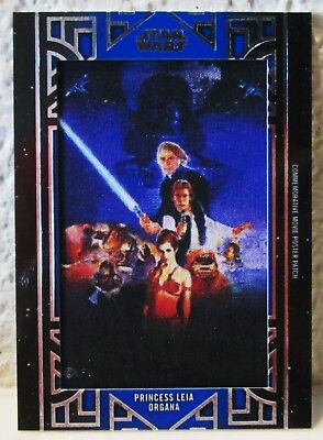 2018 Topps Star Wars Galactic Files Princes Leia Patch Return of the Jedi 53/99