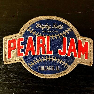 2016 PEARL JAM Patch - Chicago Wrigley Cubs Not Poster RARE