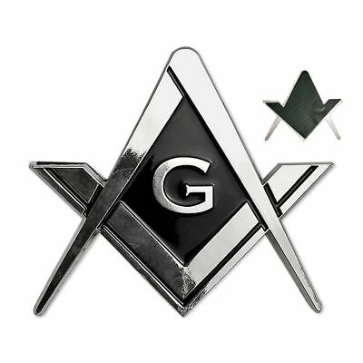 Cut Out Shaped Square And Compass Masonic Car Bumper Emblem For Freemasons