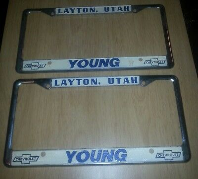 Young Chevrolet Layton Utah >> Layton Utah Young Chevrolet Dealership License Plate Frame