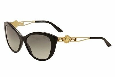 d7f2afe45ad Versace Women s VE4295 VE 4295 GB1 11 Black Gold Fashion Cat Eye Sunglasses