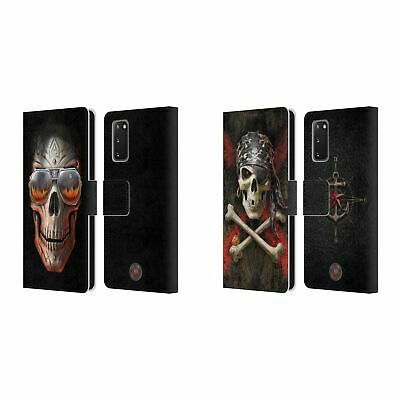 Official Anne Stokes Skull Leather Book Wallet Case Cover For Samsung Phones 1