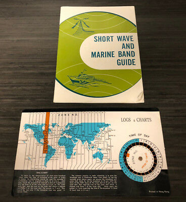 Vintage Short Wave and Marine Band Radio Guide with Dial-O-Map 23 pages