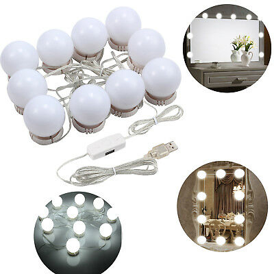 4000K Vanity LED Makeup Hollywood Mirror Light Kit with 10 Dimmable Bulbs Light