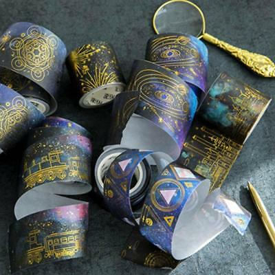 Gold foil Series Washi Paper Decor Sticky Paper Masking Tape Self Adhesive HOT