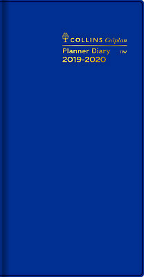 Diary 2019-2020 Collins Colplan Planner Slimline Month to View Blue #11W