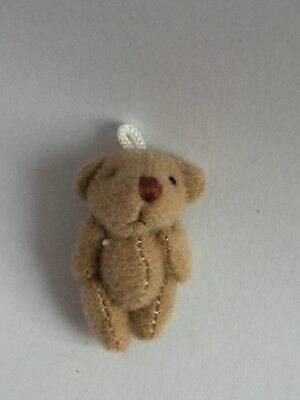 1 x miniature jointed teddy bears dolls house gift bags crafts