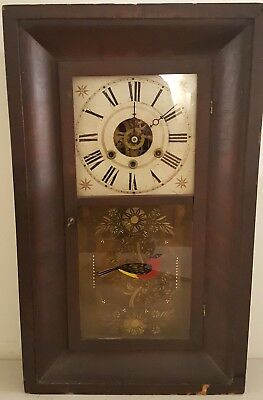 Antique 1830's Henry C. Smith Plymouth Conn. OGEE Clock Weight Driven Movement