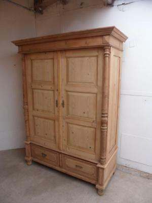 A Rare 6 Panel Georgian Antique/Old Pine Large Knockdown Wardrobe to Wax/Paint