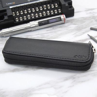MINI TS100 Soldering Iron Portable Carry Case PU Leather Zipper Pouch Single Lay
