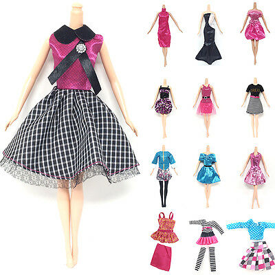 10x Fashion Princess Party Dress/Evening Clothes/Gown For Girl Doll HOT