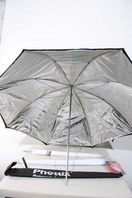 Used Studio Lighting Umbrella Kit w/ (2) White (1) Black 32 & 40""