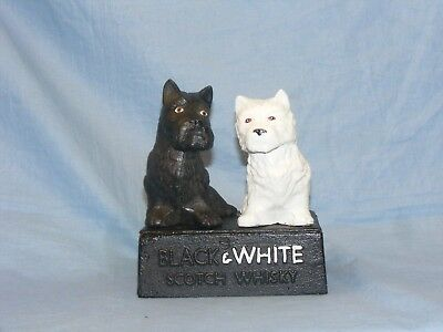 Black And White Scotch Whisky Dogs Cast Iron Advertising Scottie Westie Dogs
