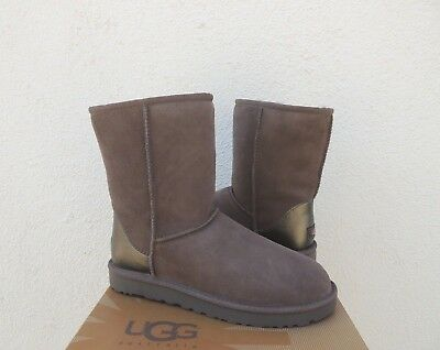 41848cdb402 UGG CLASSIC SHORT Ii Stormy Grey Water-Resistant Suede Boots, Us 6 ...