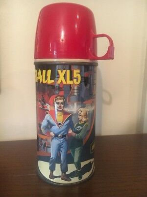 Vintage Rare Unused Near Mint 1964 King Seeley First Series Fireball XL5 Thermos