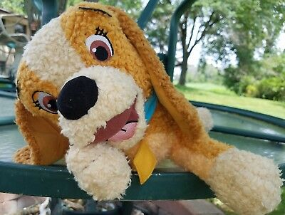 """DISNEY STORE Lady & The Tramp 21"""" Plush Dog W Beanie Bag weighted Tush"""