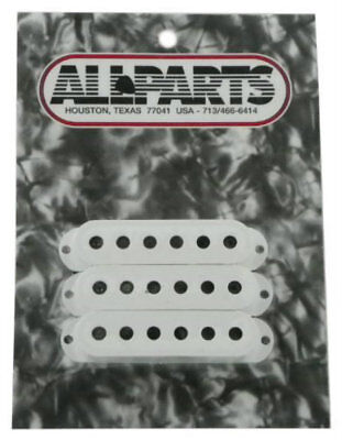 Allparts Pickup Covers for Fender Strat Electric Guitars PC-0406-025 -White-