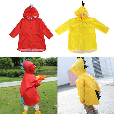 Kids Raincoat Jacket Outdoor Waterproof Unisex Boy Girl