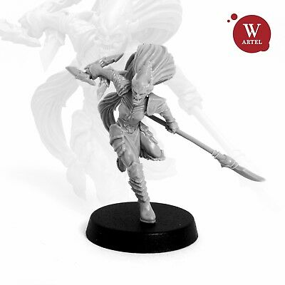 """28mm wargaming and collectible miniature, Red Witch by """"W"""" Artel"""
