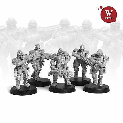 """28mm wargame and collectible miniature, Law Enforcement Unit by """"W"""" Artel"""