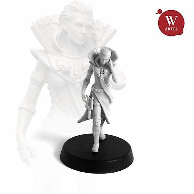 """28mm wargaming and collectible miniature, The Distaff by """"W"""" Artel"""