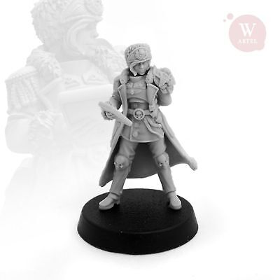 """28mm wargaming and collectible miniature, Colonel Regina by Artel """"W"""""""