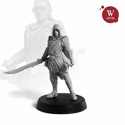 """28mm wargaming and collectible miniature, Warrior Elf by Artel """"W"""""""