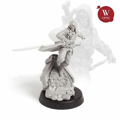 """28mm wargaming and collectible miniature, The Assassin by """"W"""" Artel"""