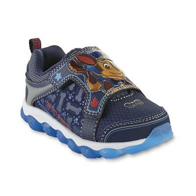 NEW NWT Toddler Boys Paw Patrol Light Up Sneakers Shoes Size 6 7 or 8 Chase