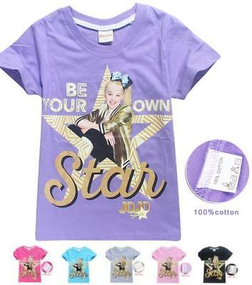 "JoJo Siwa Kids T-shirt  ""Be Your Own Star"" Girls Clothes Top - Size 4 -12"