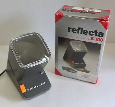 Reflecta B 100 Slide And Filmstrip 2.5x Magnification Electric Lighted Viewer