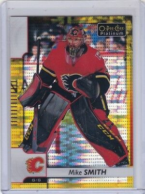 Mike Smith 2017-18 Opc Platinum Seismic Gold Parallel #26/50 #133 Flames