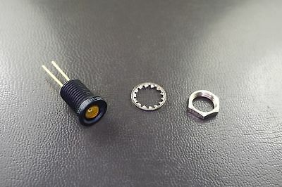 62035-222 Micropac Industries Panel Mount LED Indicator Yellow Diffused