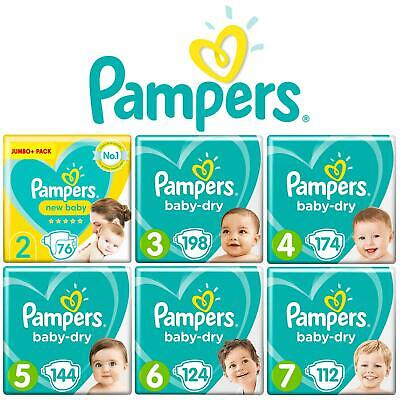Pampers Baby Dry Nappy Air Channels Nappies Size 1 2 3 4 5 6 7 Jumbo+ Giga Pack