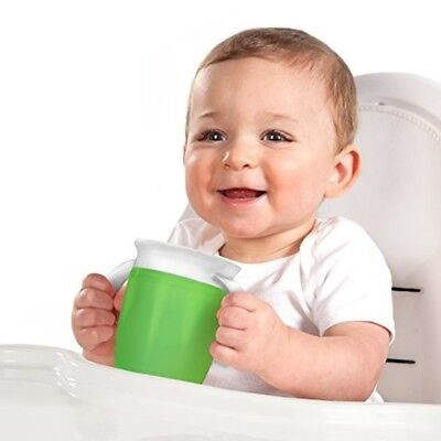Munchkin Baby Boy Sippy Trainer Cup, Miracle 360,Green/Blue No Spill Stopper Lid
