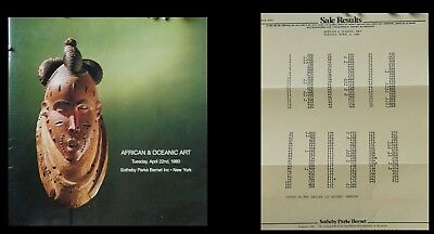 Sotheby's  African Oceanic Art 4/22/1990 w Hammer Prices Sale 4363 HJ 1