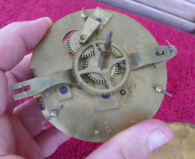 Vintage 8 Day French 2 Face Back & Front Clock Movement Platform Escapement