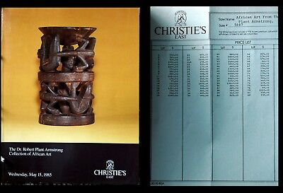 Christies Ny Robert Plant Armstrong African Art 5/15/84  Hj 1