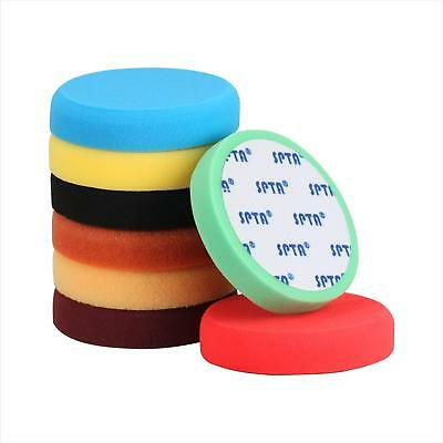 SPTA 8Pcs 6inch Compound Buffing Sponge Polishing Pads For Car Polisher Sanding
